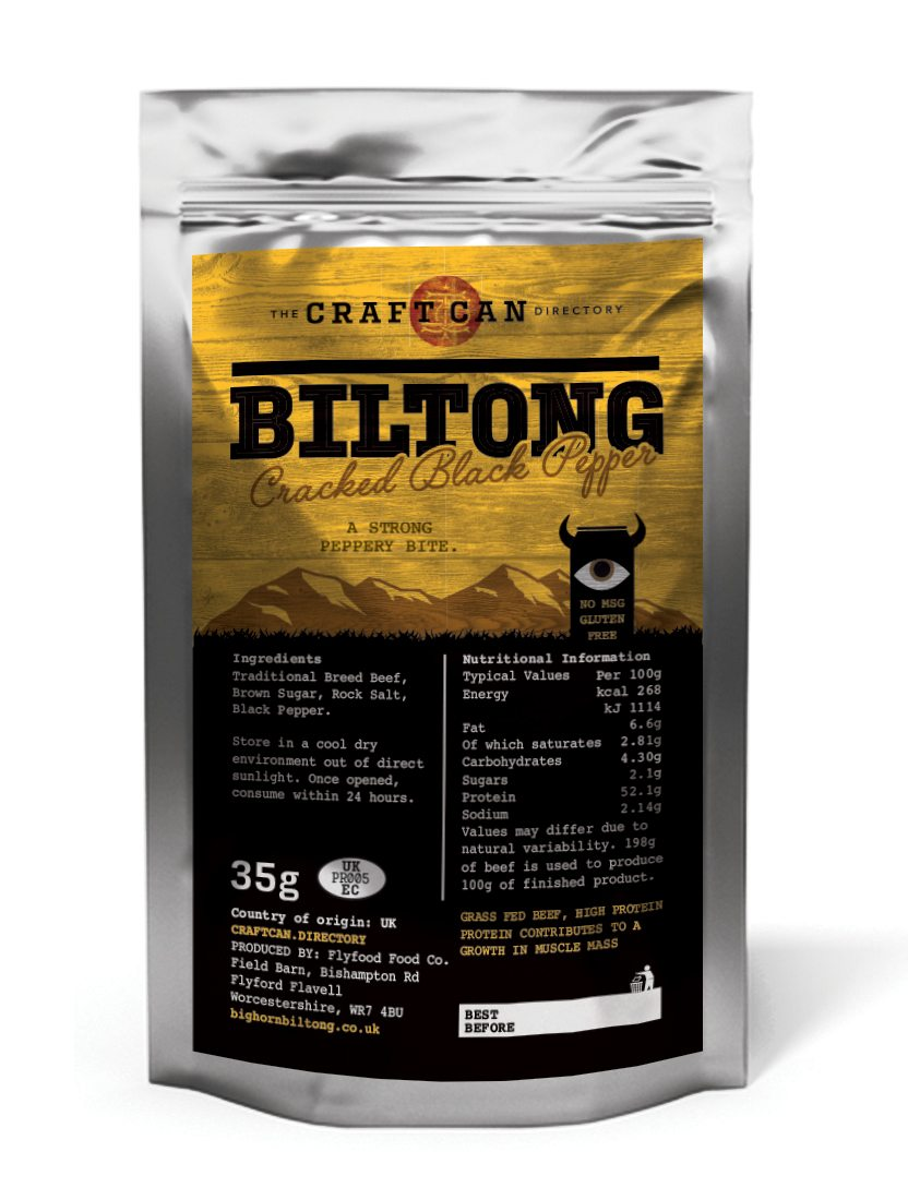 Bighorn Biltong Cracked Black Pepper - Craft Can Directory