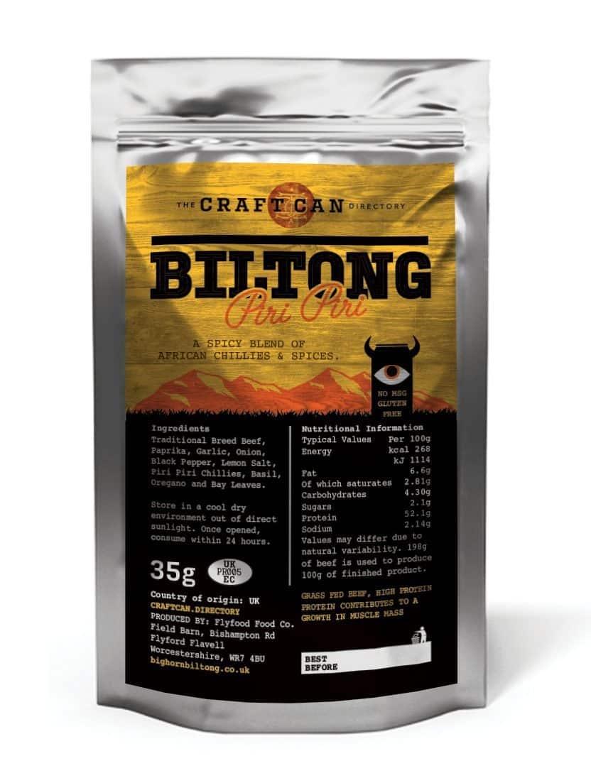 Piri Piri Billtong by the Craft Can Directory