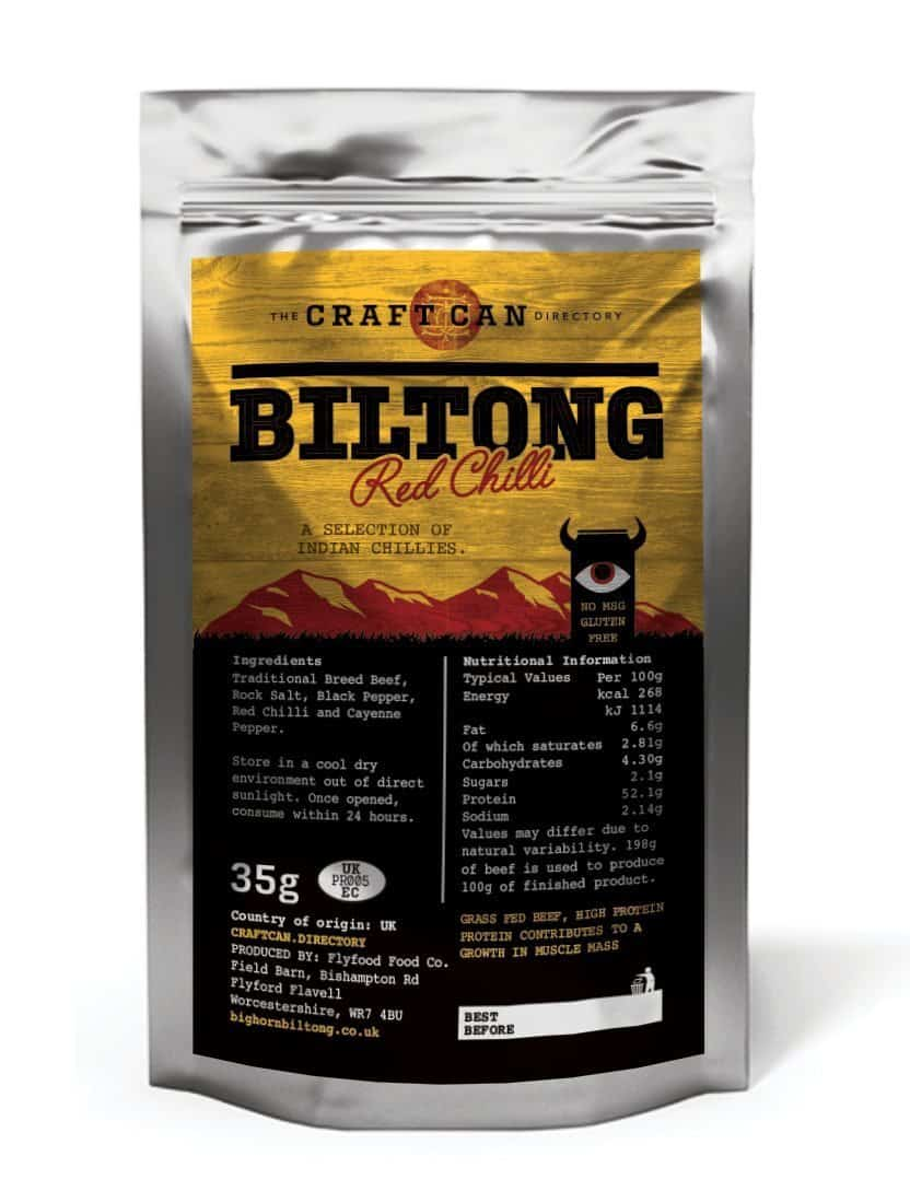 Red Chilli Biltong by the Craft Can Directory