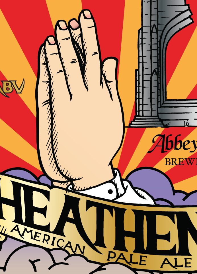 Heathen American Pale Ale by Abbey Brewery - Craft Can Directory