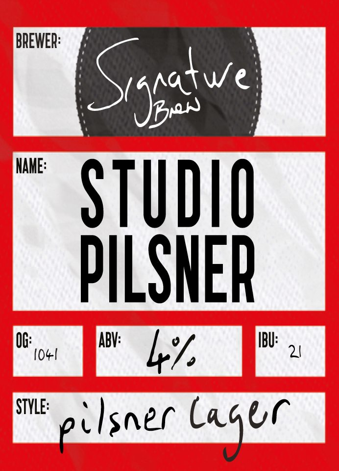 Studio Pilsner Lager by Signature Brew