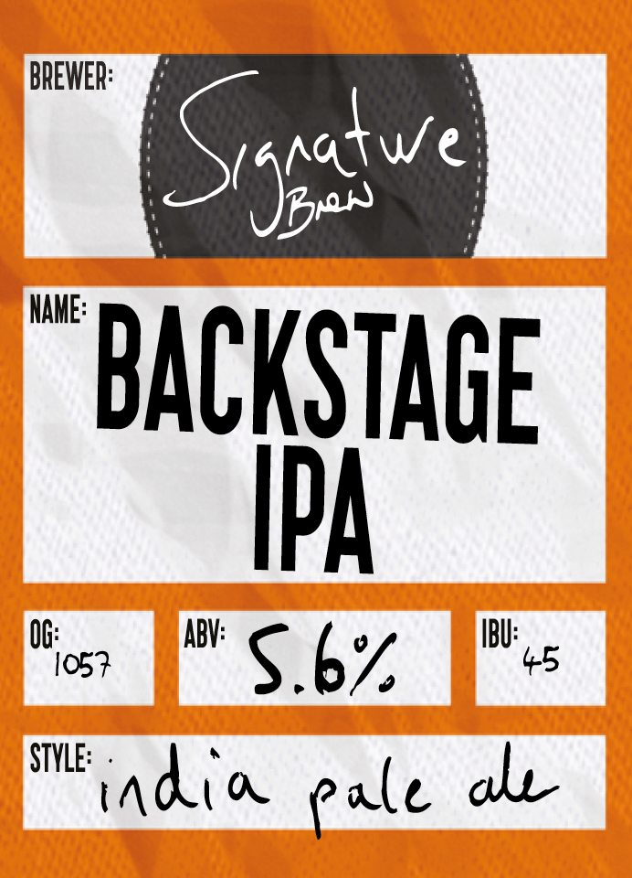 Backstage IPA By Signature Brew