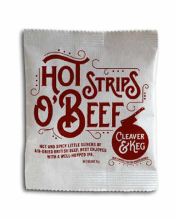 Cleaver and Keg Hot Strips O Beef